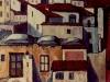 Case saracene a Cetara - olio su tela 40x55 - 1965
