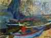 Marina di Scilla - olio su tavola 35x45 - 1969