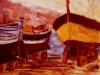 Scalo di alaggio - olio su tela 50x60 - 1970