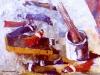 Oggetti sul tavolo - olio su tela 40x50 - 1970
