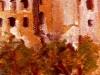 Vecchie mura a Tropea - olio su tavola 40x25 - 1971