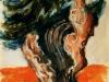 Ulivo pugliese - olio su carta 49x37 - 1973