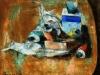 Oggetti sul tavolo - olio su tela 40x50 - 1976