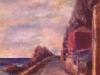 Verso il porto - olio su tavola 40x30 - 1980