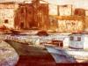 Barche a Mazara - olio su tela 50x60 - 1982