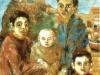 Famiglia del sud - olio su tela 50x60 - 1984