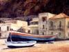 Barche a Scilla - olio su tela 50x60 - 1987