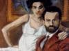 Interno con figure - olio su tela 60x50 - 1988