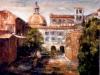 Angolo di Roma - olio su tela 40x50 - 1990