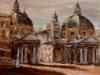 Piazza del Popolo - olio su tela 50x60 - 1992