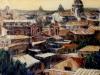 Tetti di Roma - olio su tela 60x70 - 1992