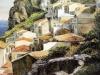 Tetti a Scilla - olio su tela 60x70 - 1994