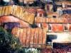 Chiesa e tetti di Roma - olio su tela 60x50 - 1997