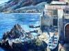 Scogli a Chianalea di Scilla - olio su tela 50x70 - 1998