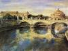 Ponte Vittorio e Castel Sant'Angelo - olio su tela 60x80 - 2000