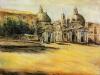 Piazza del Popolo - olio su tela 60x80 - 2000