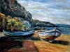 Barche a Bagnara - olio su tela 50x60 - 2002
