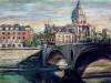 S. Giovanni dei Fiorentini e il Tevere - olio su tela 60x80 - 2002