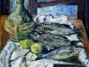 Natura morta sul tavolo - olio su tavola 50x60 - 2002