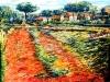 Campagna d'estate al Tuscolo - olio su tela 120x160 - 2003