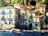 Case sul mare di Chianalea - olio su tela 60x80 - 2003