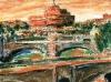 Tramonto sul Tevere - olio su tela 60x50 - 2004