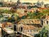 Paesaggio romano - olio su tela 50x60 - 2004