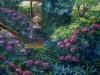 Le ortensie del Tuscolo - olio su tela 80x100 - 2004