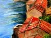 Tetti sul mare - olio su tela 50x40 - 2005