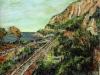 Ferrovia a Scilla - olio su tela 60x80 - 2005