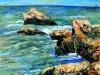 Scogli a Scilla - olio su tela 50x60 - 2005