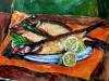 Aringhe e limoni - olio su tela 40x50 - 2007