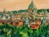 Scorcio dal Pincio - olio su tela 50x60 - 2007