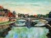 Il Tevere a Ponte Garibaldi - olio su tela 40x60 - 2008