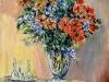 Interno con fiori - olio su tela 60x50 - 2009