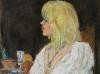 Signora in bianco - olio su tela 60x50 - 2009