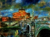 Notturno a Ponte Sant'Angelo - olio su tela 50x60 - 2009