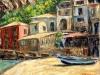 Case a Marina di Scilla - olio su tela 40x50 - 2009