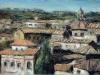 Tetti di Roma - olio su tela 40x60 - 2002