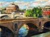Castel Sant'Angelo e ponti - olio su tela 50x60 - 2010