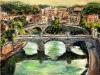 Il Tevere da Castel Sant'Angelo - olio su tela 50x60 - 2011