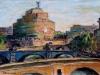 Mattino sul Tevere a Castel S. Angelo - olio su tela 35x50 - 2019