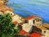 Case sul mare di Scilla - olio su tela 35x45 - 2013