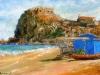 Chiosco sulla spiaggia a Scilla - olio su tela cm. 40x60 - 2015