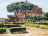 I giardini di Castel S. Angelo - olio su tela cm. 40x60 - 2015