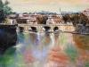 Il Tevere a Ponte Cavour - olio su tela 50x60 - 2014