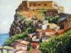 La rocca, il castello e i tetti di Scilla - olio su tela cm. 50x60 - 2017