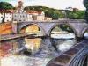 Ponte Cestio e il Tevere - olio su tela 50x60 - 2014