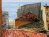 Tetti di Marina di Scilla - olio su tela cm. 50x60 - 2015