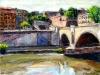 Il Tevere a Ponte Amedeo - olio su tela - 40x50